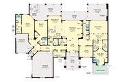 Modern Style House Plan - 3 Beds 4 Baths 3884 Sq/Ft Plan #930-518 Floor Plan - Main Floor