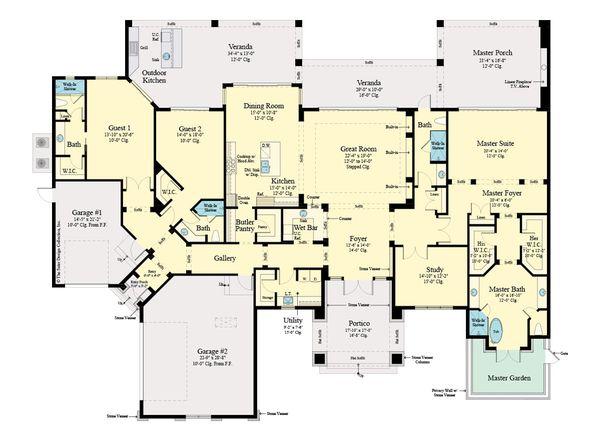 Dream House Plan - Modern Floor Plan - Main Floor Plan #930-518
