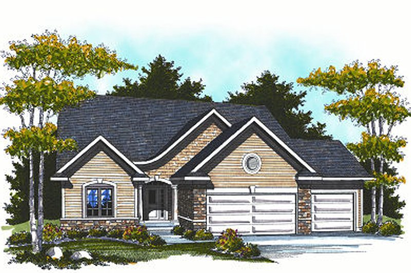 Home Plan - Traditional Exterior - Front Elevation Plan #70-858