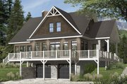 European Style House Plan - 4 Beds 3 Baths 2340 Sq/Ft Plan #23-2627 Exterior - Front Elevation