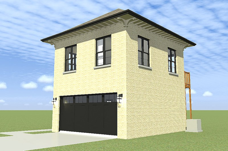 Traditional Exterior - Other Elevation Plan #64-229 - Houseplans.com