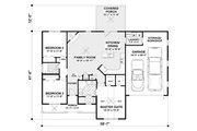 Ranch Style House Plan - 3 Beds 2 Baths 1457 Sq/Ft Plan #56-620