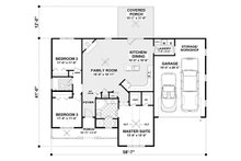 Ranch Floor Plan - Main Floor Plan Plan #56-620