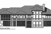 Mediterranean Style House Plan - 5 Beds 3.5 Baths 5282 Sq/Ft Plan #70-452 Exterior - Rear Elevation
