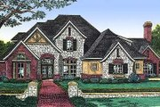 European Style House Plan - 3 Beds 3.5 Baths 3537 Sq/Ft Plan #310-504 Exterior - Front Elevation