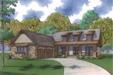 Architectural House Design - Country Exterior - Front Elevation Plan #923-70