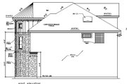 European Style House Plan - 4 Beds 3.5 Baths 3015 Sq/Ft Plan #411-487 Exterior - Other Elevation