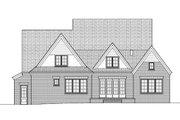 European Style House Plan - 4 Beds 3.5 Baths 3747 Sq/Ft Plan #413-814 Exterior - Rear Elevation