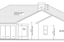 Mediterranean Exterior - Rear Elevation Plan #1058-44