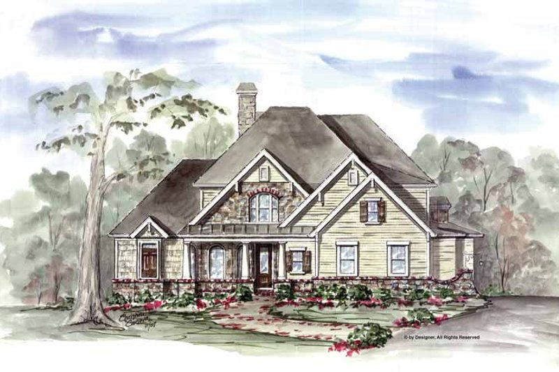 Traditional Exterior - Front Elevation Plan #54-305 - Houseplans.com