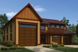 Dream House Plan - Traditional Exterior - Front Elevation Plan #118-166