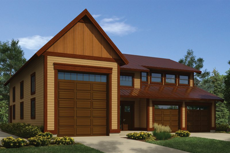 Architectural House Design - Traditional Exterior - Front Elevation Plan #118-166