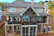 Country Style House Plan - 4 Beds 3.5 Baths 2867 Sq/Ft Plan #437-80 Exterior - Rear Elevation