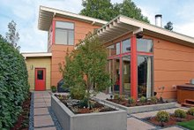 Home Plan - Rear View - 1900 square foot Modern Home