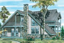 Country Exterior - Front Elevation Plan #47-738