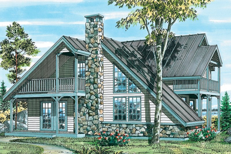 House Plan Design - Country Exterior - Front Elevation Plan #47-738