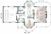 Traditional Style House Plan - 3 Beds 2.5 Baths 2659 Sq/Ft Plan #23-808 Floor Plan - Main Floor Plan