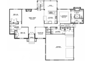 European Style House Plan - 4 Beds 4.5 Baths 5286 Sq/Ft Plan #1064-1 Floor Plan - Main Floor