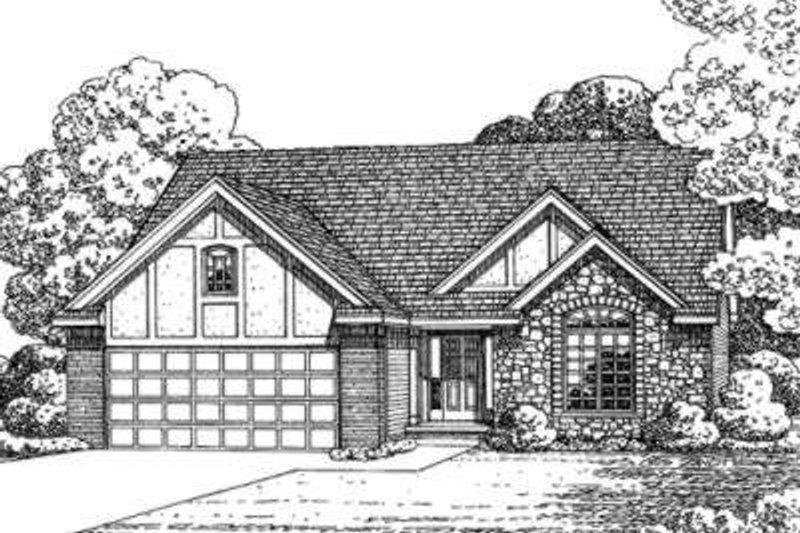 Dream House Plan - Tudor Exterior - Front Elevation Plan #20-1644