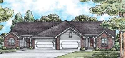 Traditional Exterior - Front Elevation Plan #20-1558 - Houseplans.com