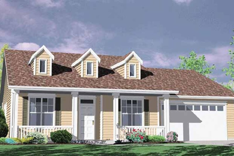 Traditional Exterior - Front Elevation Plan #509-203 - Houseplans.com