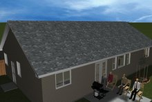 Ranch Exterior - Rear Elevation Plan #1060-36