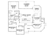 Country Floor Plan - Main Floor Plan Plan #472-149