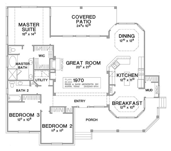 Architectural House Design - Country Floor Plan - Main Floor Plan #472-149