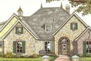 European Style House Plan - 3 Beds 3 Baths 2462 Sq/Ft Plan #310-370 Exterior - Front Elevation