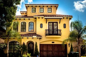 Dream House Plan - Mediterranean Exterior - Front Elevation Plan #1021-15