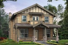 Architectural House Design - Craftsman Exterior - Front Elevation Plan #132-302