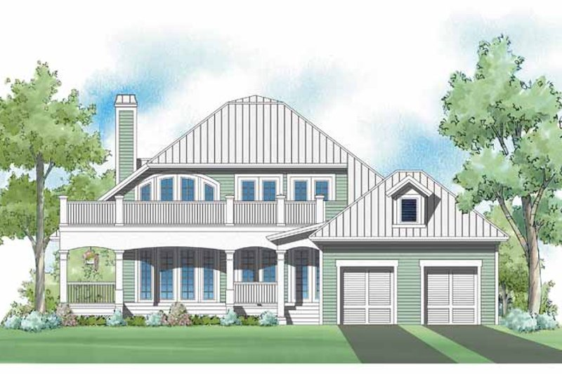 Traditional Exterior - Rear Elevation Plan #930-399 - Houseplans.com