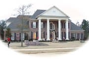 Classical Style House Plan - 5 Beds 4 Baths 4658 Sq/Ft Plan #81-637 Exterior - Front Elevation