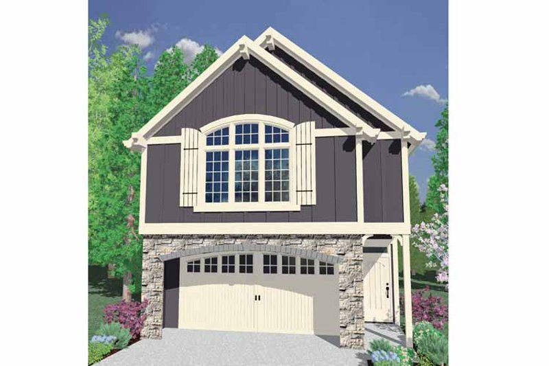 Craftsman Exterior - Front Elevation Plan #509-189 - Houseplans.com