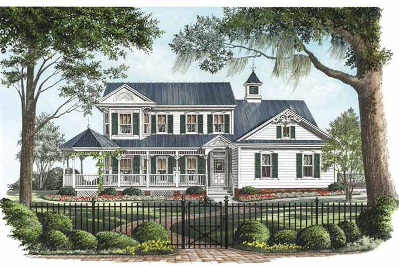 Victorian Exterior - Front Elevation Plan #137-326 - Houseplans.com