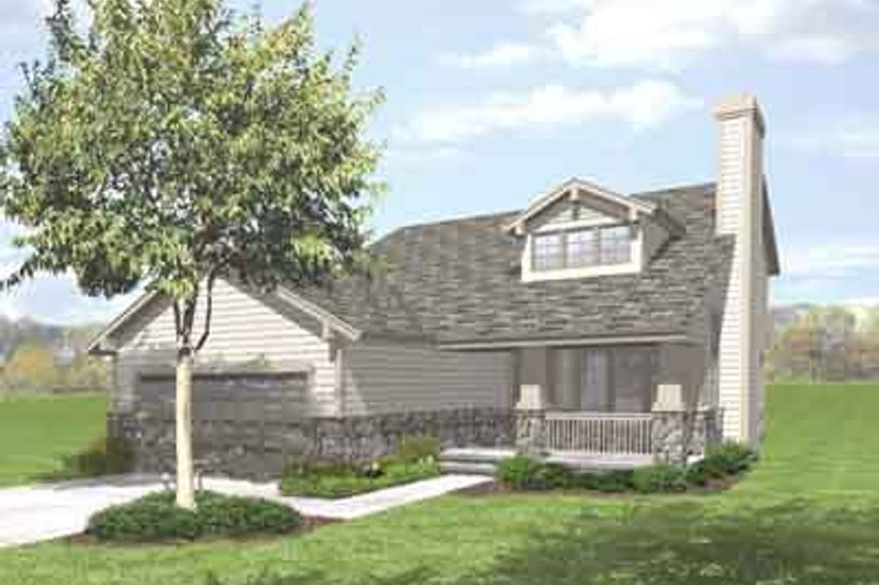 Bungalow Style House Plan - 4 Beds 2.5 Baths 1911 Sq/Ft Plan #50-279 Exterior - Front Elevation