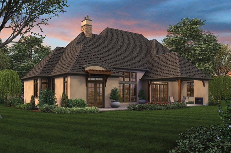 Country Exterior - Rear Elevation Plan #48-898 - Houseplans.com
