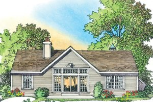 Architectural House Design - Country Exterior - Rear Elevation Plan #1016-101