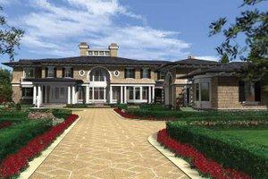 Dream House Plan - Prairie Exterior - Front Elevation Plan #132-354