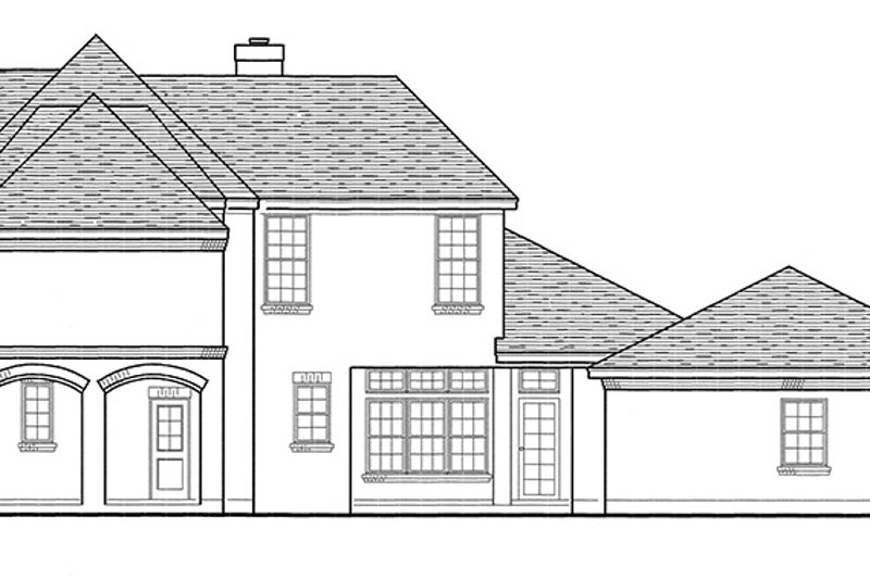 European Exterior - Other Elevation Plan #410-3593 - Houseplans.com