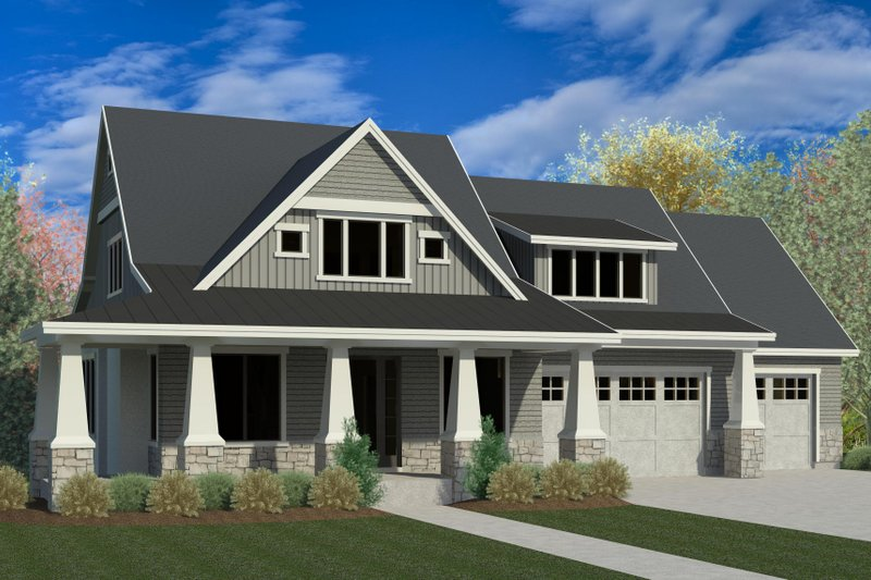 Home Plan - Craftsman Exterior - Front Elevation Plan #920-5