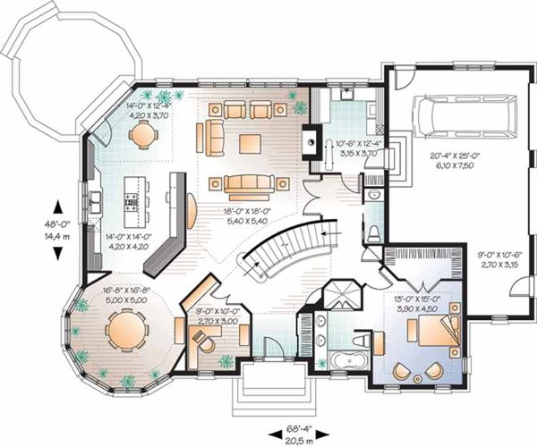 European Floor Plan - Main Floor Plan Plan #23-2472