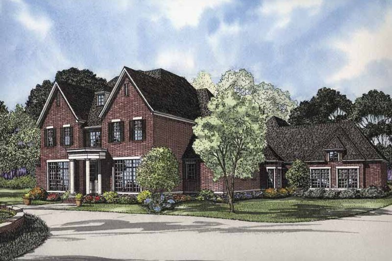 Traditional Exterior - Front Elevation Plan #17-2840 - Houseplans.com