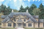 European Style House Plan - 4 Beds 4.5 Baths 5493 Sq/Ft Plan #119-193 Exterior - Front Elevation