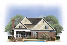 Dream House Plan - Country Exterior - Rear Elevation Plan #929-809