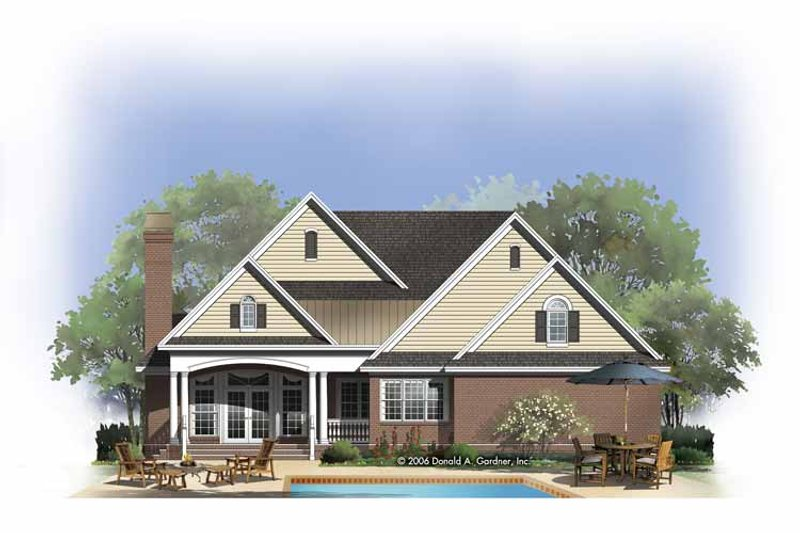 Country Exterior - Rear Elevation Plan #929-809 - Houseplans.com