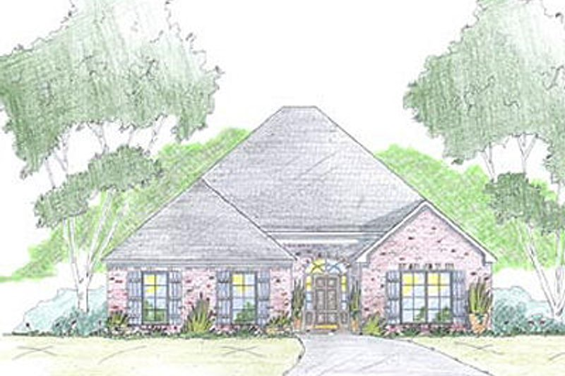 European Exterior - Front Elevation Plan #36-460