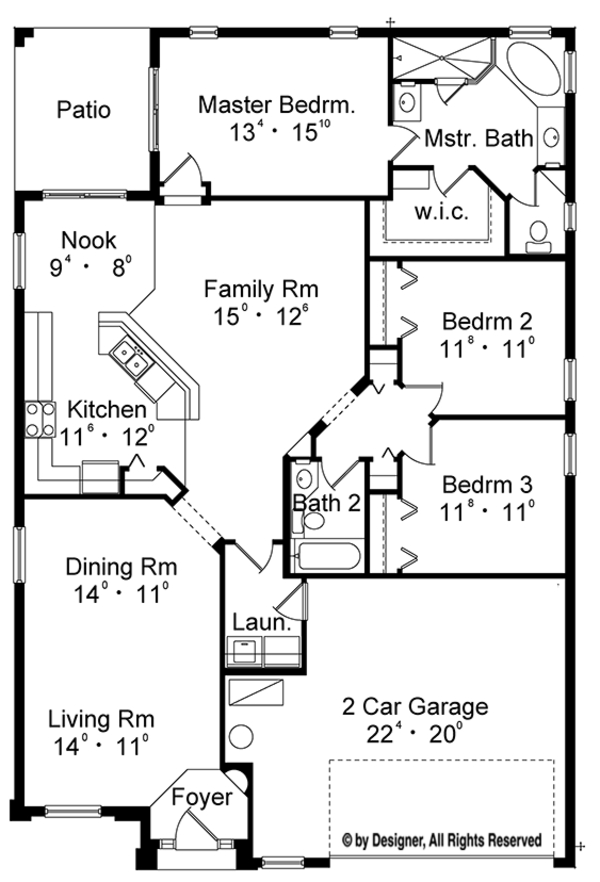 European Floor Plan - Main Floor Plan Plan #417-827