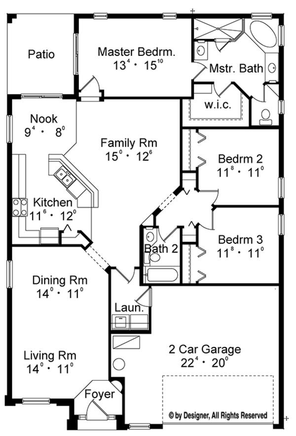 European Floor Plan - Main Floor Plan Plan #417-827