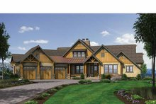 Dream House Plan - Craftsman Exterior - Front Elevation Plan #132-560